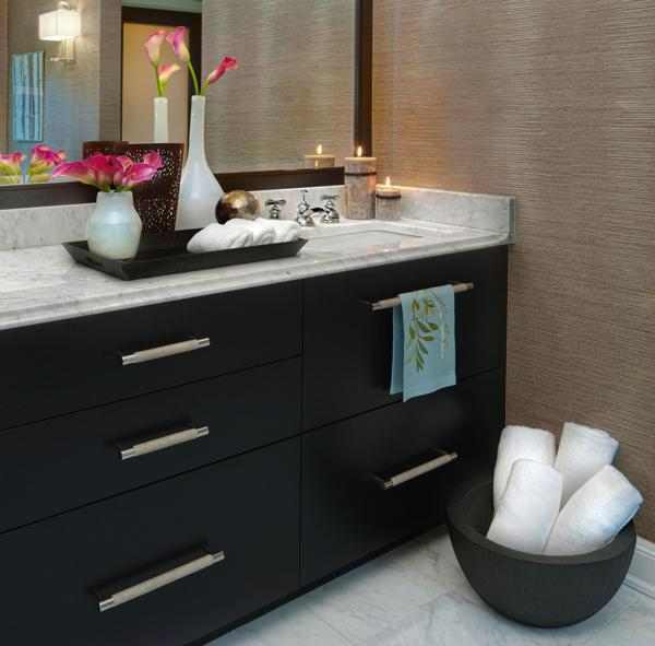 Decorating Ideas Color Inspiration: Bathroom Decorating In Blue-Brown Colors, Chocolate Inspiration