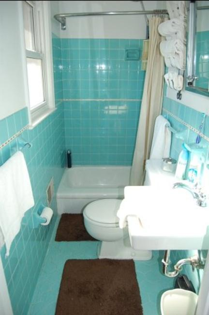 Small Bathrooms Light Blue And Brown Color Schemes