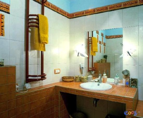 Bathroom Decorating In Blue Brown Colors Chocolate