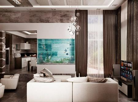 Feng Shui for Room with Aquarium, 25 Interior Decorating ...