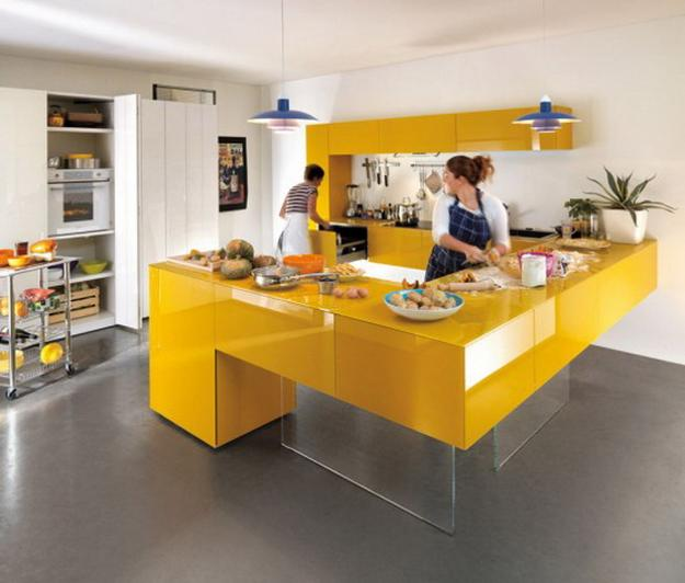 Contemporary Kitchen Design With Glass