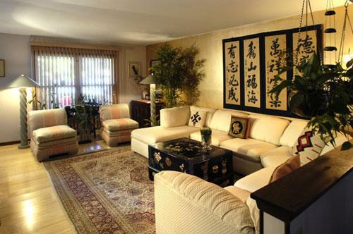 Feng shui home step 6 living room design and decorating - Asian style living room ideas ...