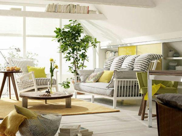 Feng shui home step 6 living room design and decorating - Plant decoration in living room ...