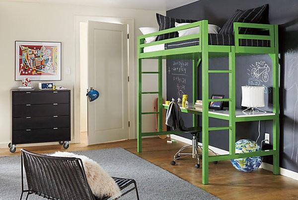 Ordinaire Contemporary Bedroom Design With Loft Bed