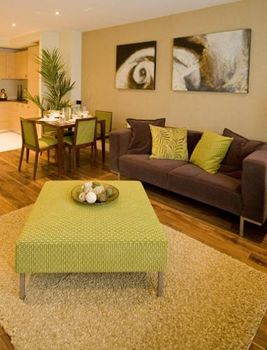 Green Living Room Designs: Green Color For Room Decorating, Irish Inspirations For