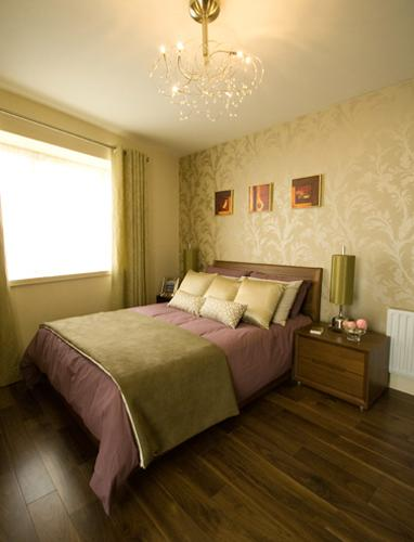 Brown, Beige And Pastel Green Colors For Bedroom Decorating