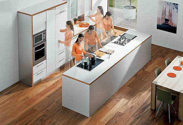 Ergonomic Kitchen Design Unique Decoration