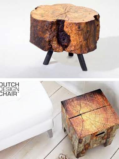 From Log To Keyboard Stools And Stylish Chairs Made Of Tree Logs