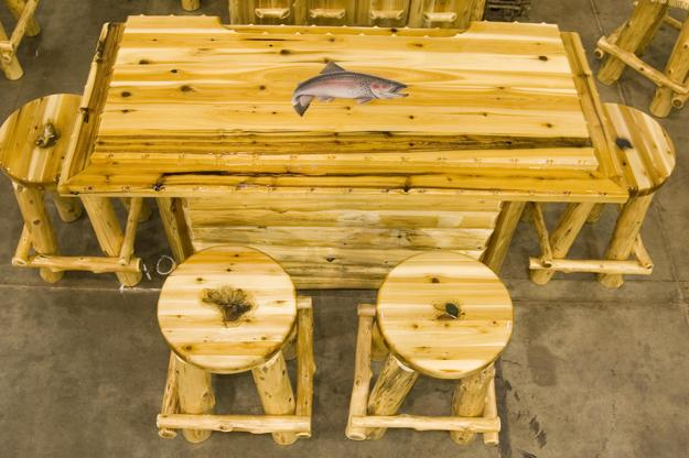 Log home design living room furniture made of logs & From Log to Keyboard Stools and Stylish Chairs Made of Tree Logs