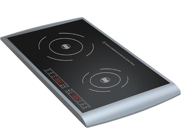 Modern Electric Hob With Two Cookers