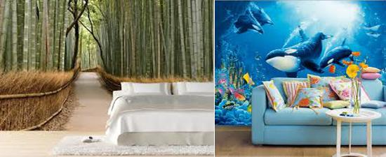 Digital Prints And Photo Wallpaper Designs Inspired By Nature Home Decorating Ideas In Eco Style