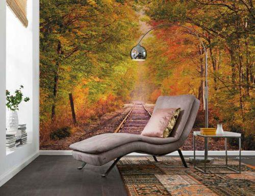 Wall Decorating With Fall Leaves Photo Wallpaper