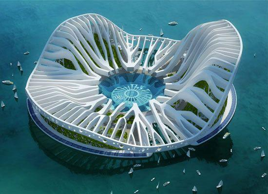 Urban Sustainable Architecture Floating Arcology Concepts