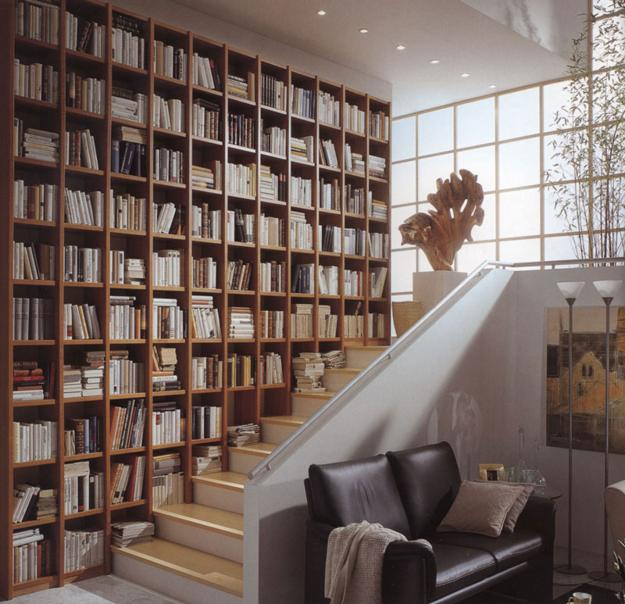 Modern Home Library Design Ideas: Book Shelves For Personal Library Decorating And Design In