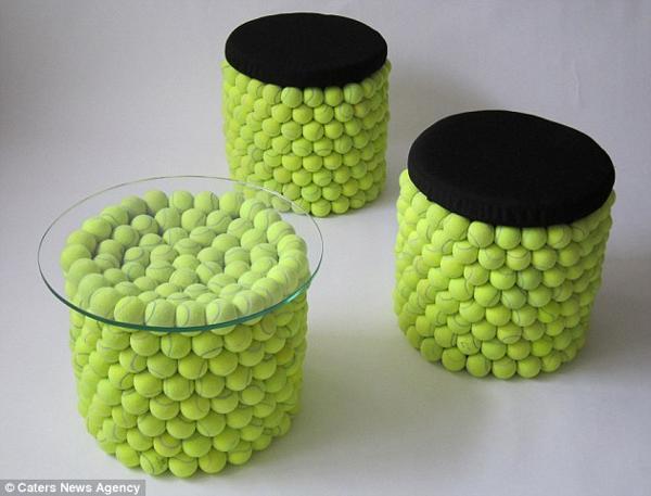Unique Furniture Designs Recycling Tennis Balls For