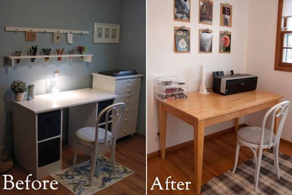 Staging Redesign And Interior Decorating. Changing Home Office ...