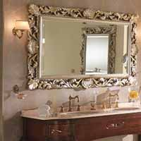 Light And Dark Colors Rich Deep Hues With Golden Silver Tones Add Chic Charm Of Old World To Bathroom Design Ideas