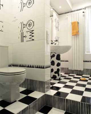 Modern Interior Decorating Ideas For Home Black And White Bathroom Decor With Yellow