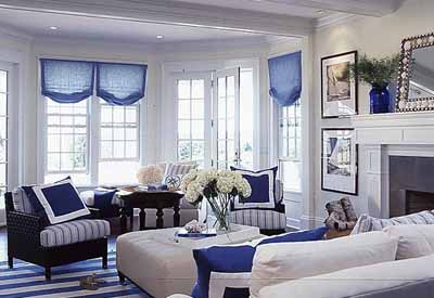 Black And White Rooms With Blue Furnishings Modern Living Room Decorating Ideas