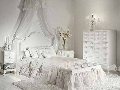 White Room Design, White Painting And Furnishings, Classic Bedroom  Decorating Ideas, Modern Interior Design Trends
