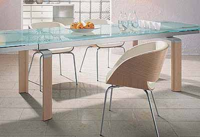 Glass Table Top And Metal Wood Frame, Wood Dining Chairs, Modern Dining  Furniture Design Trends