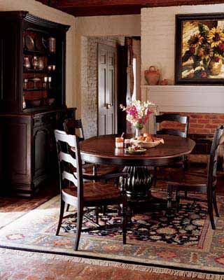 Brown Black Wood Furniture For Small Dining Room Traditional Retro Modern Chairs Round Table