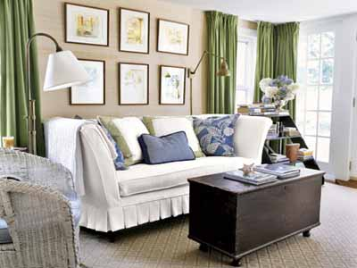 Black And White Living Room Decorating Ideas With Color Accents In Blue Green