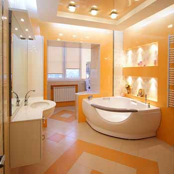 Cream And Yellow Floor Tiles Wall Painting Ideas For Bathroom Decorating