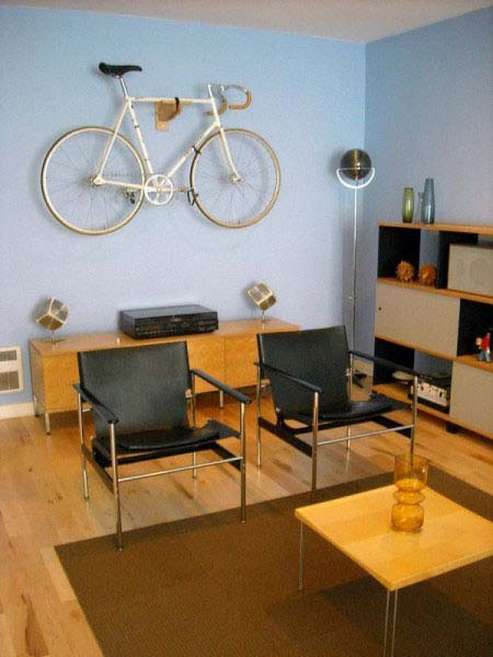 Indoor Bike Storage Modern Interior Decorating With A Bike