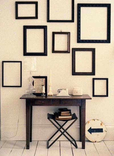 Picture Frame Decorating Ideas.Empty Picture Frames Stylish Wall Decoration Ideas