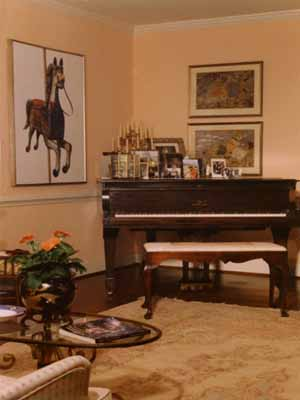 Interior Design And Decorating Music Room With A Piano