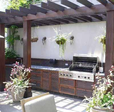 Summer kitchen outdoor rooms modern backyard ideas for Summer kitchen plans