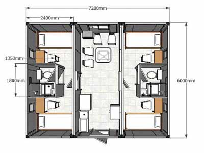 Empty container house cheap and durable modern house designs for House interior design layout