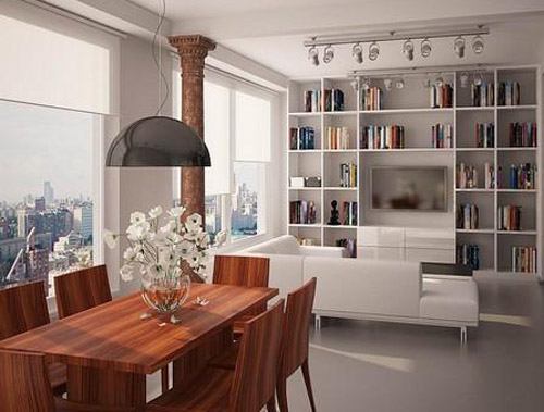 Modern Home Library Design Lighting Ideas For Bookcases