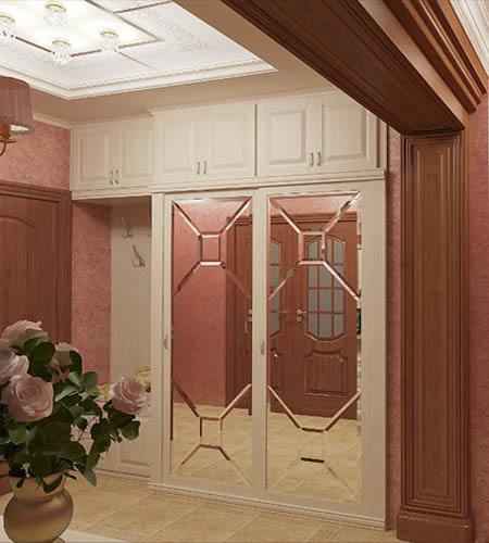 Creative Entryway Storage And Hallway Lighting Ideas Are Shown On 3d Model  Picture