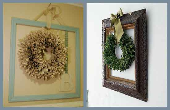 Empty Picture Frames Framing Objects Bold Wall Decor Ideas