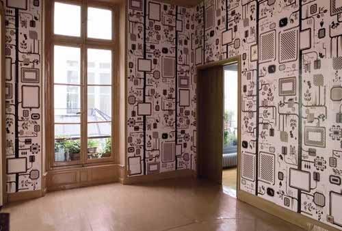 It Pays To Around Looking For Interesting Contemporary Wall Sticker Designodern Wallpaper Patterns With Window Or Photo Frames Add Dramatic