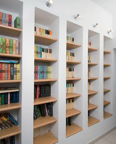Modern Home Library Design Lighting Ideas For Bookcases And Shelves