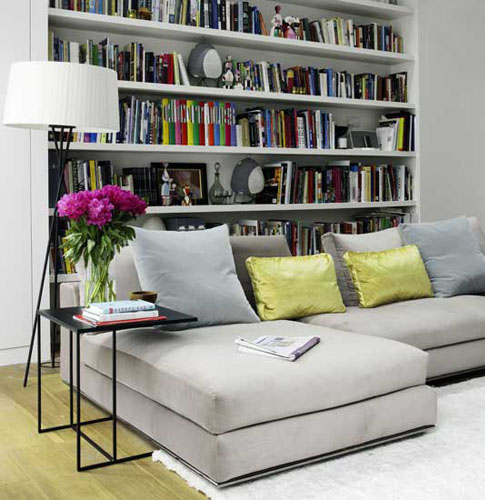 Home Office Design Tips To Stay Healthy: Modern Home Library Design, Lighting Ideas For Bookcases