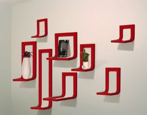 Decorating with Picture Frames, Bright White Red Color Combination