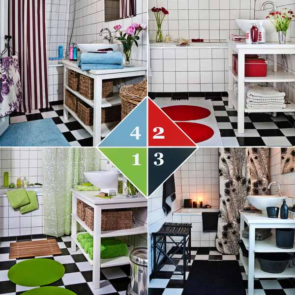 4 Small Bathroom Decorating Ideas and Color Schemes, Quick Room ...