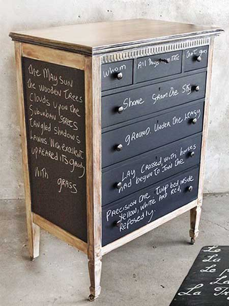 Chalkboard Paint For Dressers Modern Furniture Painting And