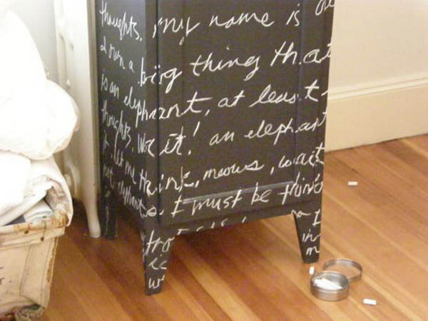 Modern Furniture Painting And Decorating Ideas To Combine With Black Chalkboard Paint