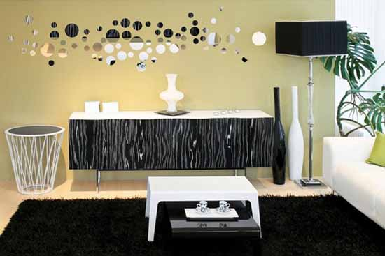 Mirror Sticker, Wall Decor Ideas for Spacious Room Design