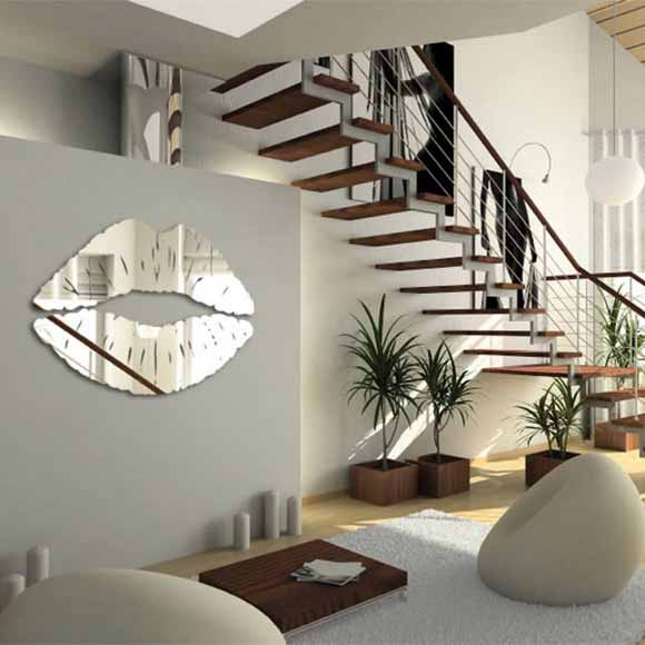 mirror sticker wall decor ideas for spacious room design rh lushome com