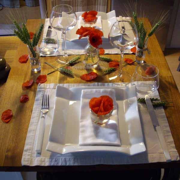 table setting for remembrance day