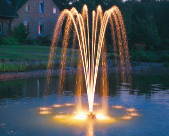 Water Fountains Front Yard and