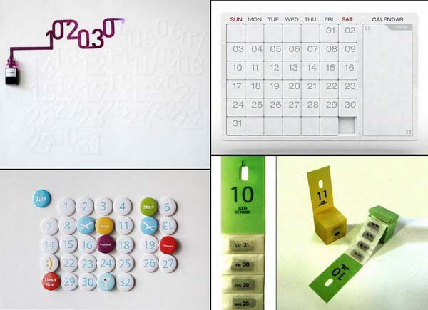 Unusual Calendar Design : Unusual calendars design ideas for contemporary home decor