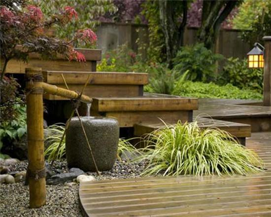 Tsukubai Water Fountains Japanese Garden Design Ideas