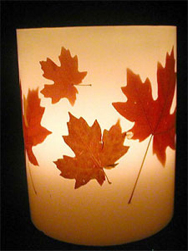 Fall Ideas For Thanksgiving Decorating Fall Leaves And Candles Centerpieces